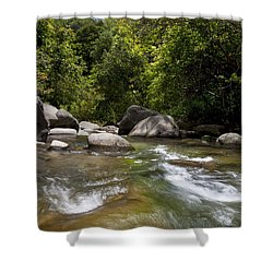 Iao River Shower Curtain by Jenna Szerlag