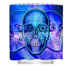 Illuminated Skulls Shower Curtain