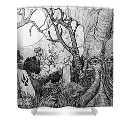 In My Garden  Shower Curtain by Mariusz Zawadzki
