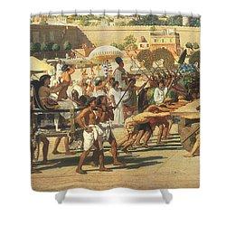 Israel In Egypt Shower Curtain by Sir Edward John Poynter