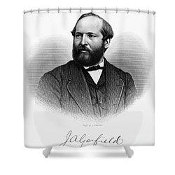 James A. Garfield (1831-1881) Shower Curtain by Granger