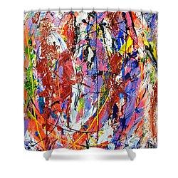 Jazz Shower Curtain by Elf Evans