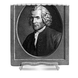 Jean-jacques Rousseau, Swiss Philosopher Shower Curtain by Photo Researchers