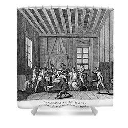 Jean-paul Marat (1743-1793) Shower Curtain by Granger