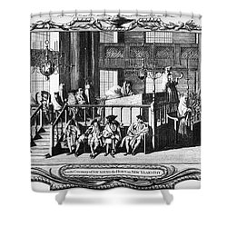 Jewish Life, 18th Century Shower Curtain by Granger