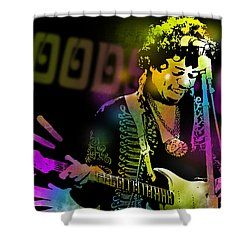 Jimi Hendrix Shower Curtain by Paul Sachtleben