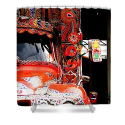 Jingly Truck Shower Curtain