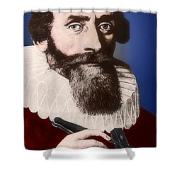Johannes Kepler, German Astronomer Shower Curtain by Science Source