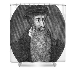 John Knox, Scottish Protestant Shower Curtain by Photo Researchers
