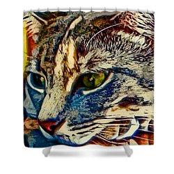 Just Chillin' Shower Curtain by David G Paul