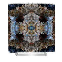 Kaleidoscope Shower Curtain by Christopher Gaston