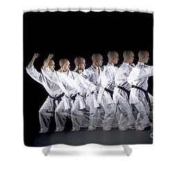 Karate Expert Shower Curtain by Ted Kinsman