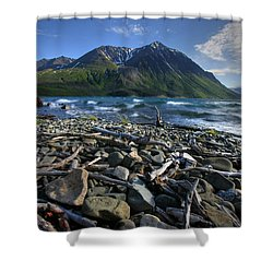 Kathleen Lake, Kluane National Park Shower Curtain by Robert Postma