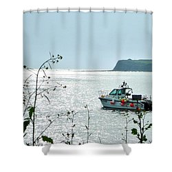 Shower Curtain featuring the photograph Kimmeridge by Katy Mei