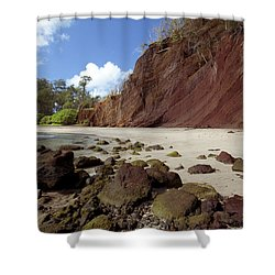 Koki Beach Shower Curtain by Jenna Szerlag