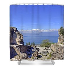 Lake Garda Shower Curtain by Joana Kruse