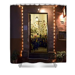 Las Cruces Shower Curtain by Lynn Palmer