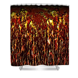 Lava And Brimstone Shower Curtain by Christopher Gaston