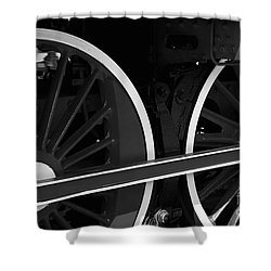 Locomotive Wheels Shower Curtain