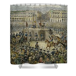 Louis Xvi: Execution, 1793 Shower Curtain by Granger