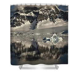 Luigi Peak Wiencke Island Antarctic Shower Curtain by Colin Monteath