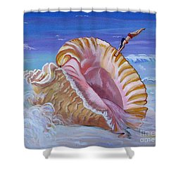 Magic Conch Shell Shower Curtain