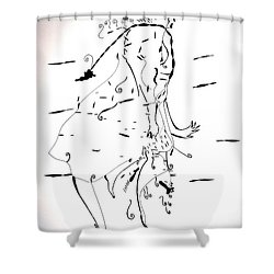 Malipenga Dance - Malawi Shower Curtain by Gloria Ssali