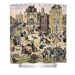 Massacre Of Huguenots Shower Curtain by Granger