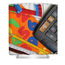 Mathematics Tools Shower Curtain by Photo Researchers Inc