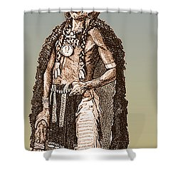 Medicine Elk Shower Curtain by Science Source