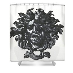 Medusa Head Shower Curtain by Photo Researchers