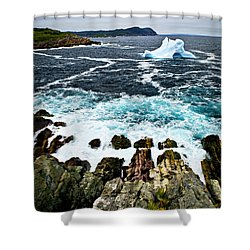 Melting Iceberg Shower Curtain by Elena Elisseeva