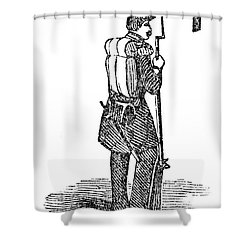 Mexican War: Soldier Shower Curtain by Granger