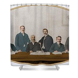 Meyer Guggenheim And Sons Shower Curtain by Science Source