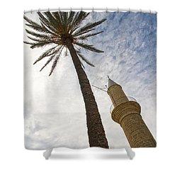 Minaret Shower Curtain by Stelios Kleanthous