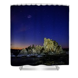 Mono Lake Big Dipper Sky Shower Curtain by La Rae  Roberts