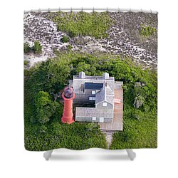 Monomoy Light At Monomoy Wildlife Refuge In Chatham On Cape Cod Shower Curtain by Matt Suess