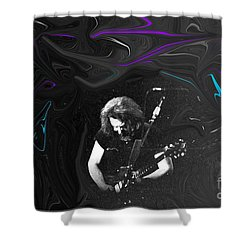 Shower Curtain featuring the photograph Jerry Garcia - Grateful Dead - Morning Dew by Susan Carella