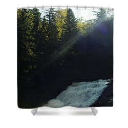 Shower Curtain featuring the photograph Morning Waterfall by Stacy C Bottoms