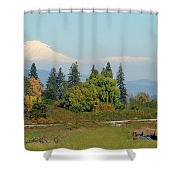 Mt. Adams In The Country Shower Curtain by Athena Mckinzie