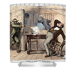 Murder Of Smith, 1844 Shower Curtain by Granger
