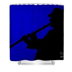 Music Man Shower Curtain by Julie Brugh Riffey