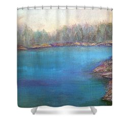 Muskoka Shore Shower Curtain by Claire Bull