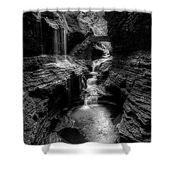 Mystic Falls Shower Curtain by Nick  Shirghio