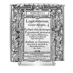 Napiers Treatise On Logarithms Shower Curtain by Photo Researchers