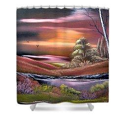 Neverland Shower Curtain by Cynthia Adams
