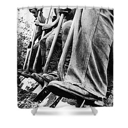 New Deal: C.c.c., 1940 Shower Curtain by Granger