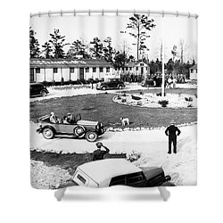 New Deal: C.c.c. Camp Shower Curtain by Granger