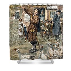 New England: Quaker, 1660 Shower Curtain by Granger
