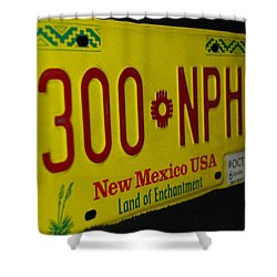 New Mexico Tag Shower Curtain by Rob Hans